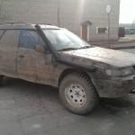 Ruošiamas Subaru bolidas